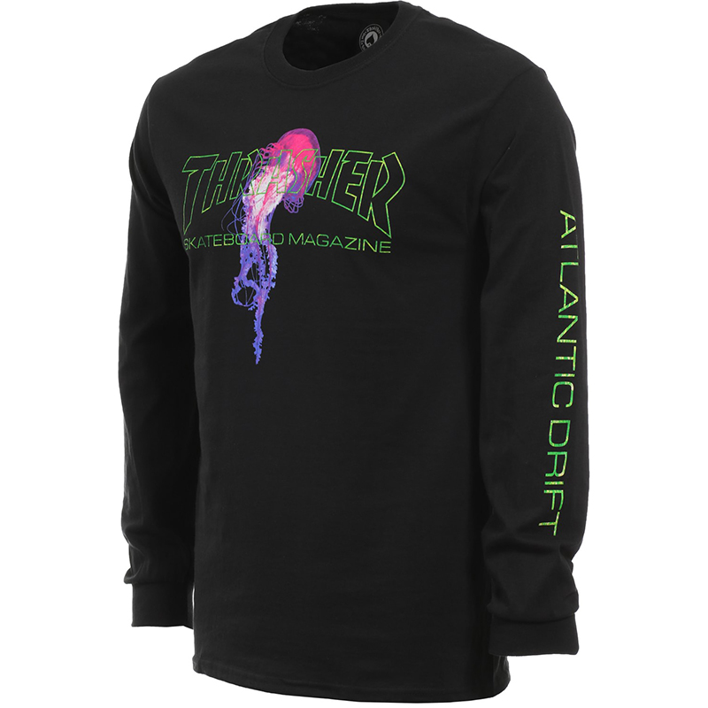 Thrasher Atlantic Drift Longsleeve T-shirt Black