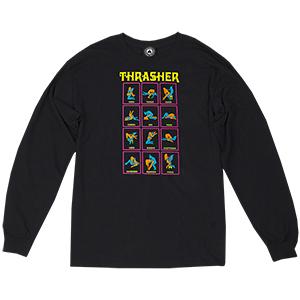 Thrasher Black Light Longsleeve T-Shirt Black