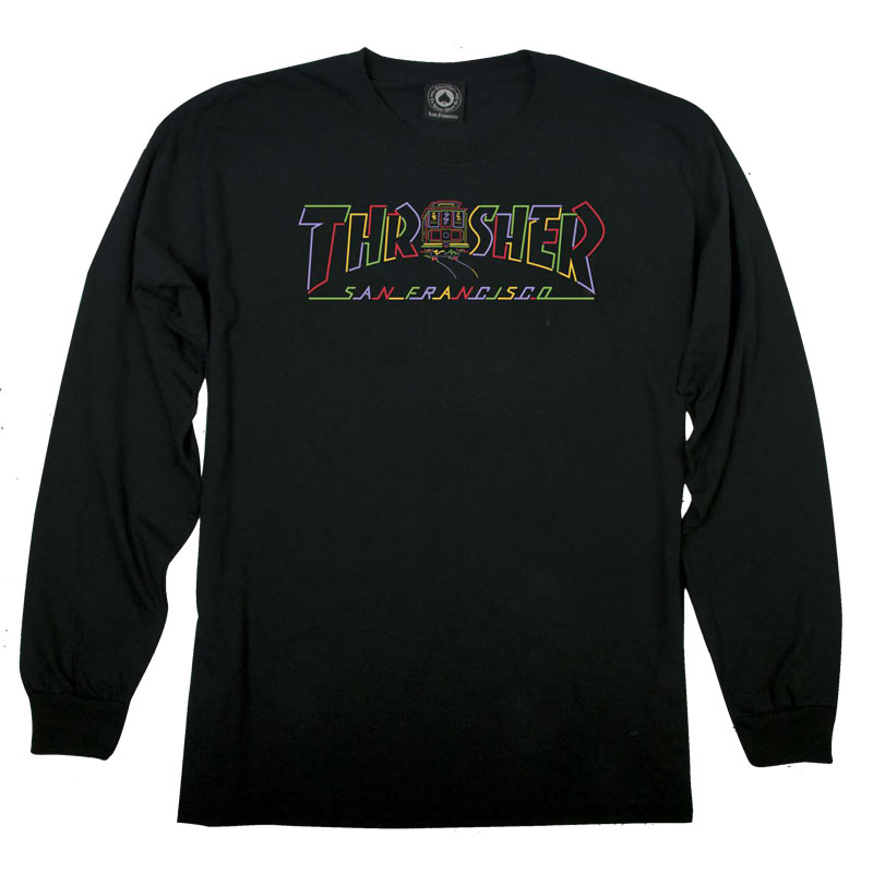 Thrasher Cable Car Longsleeve T-Shirt Black