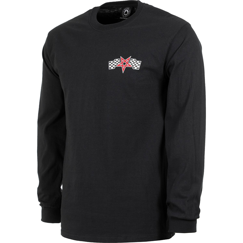 Thrasher Racing Longsleeve T-Shirt Blac M - Skatestore.com bf809a0e3bc6