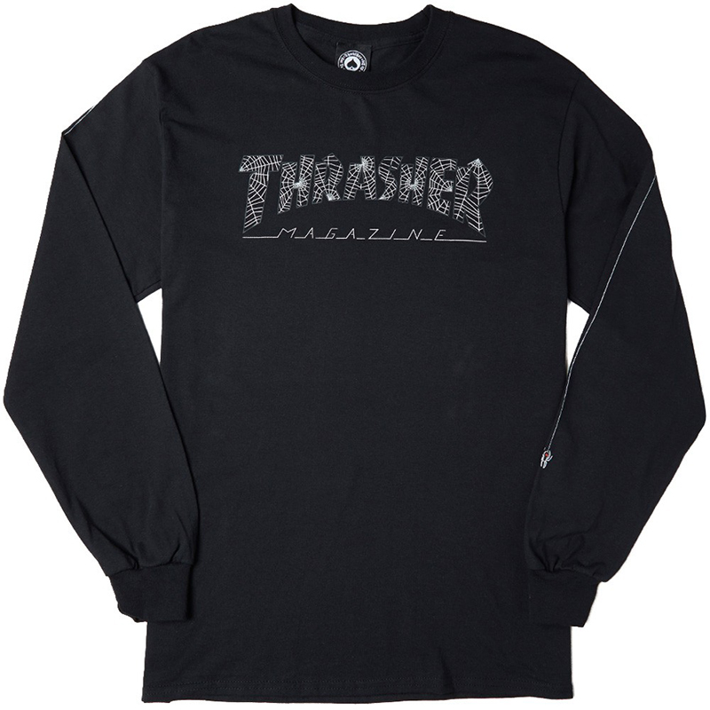 Thrasher Web Longsleeve T-shirt Black