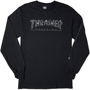Thrasher Web Longsleeve T-shirt Black