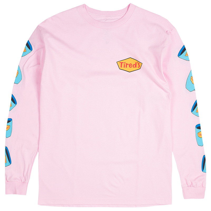 Tired Diner Longsleeve T-Shirt Pink