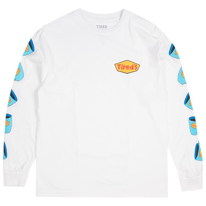 Tired Diner Longsleeve T-Shirt White