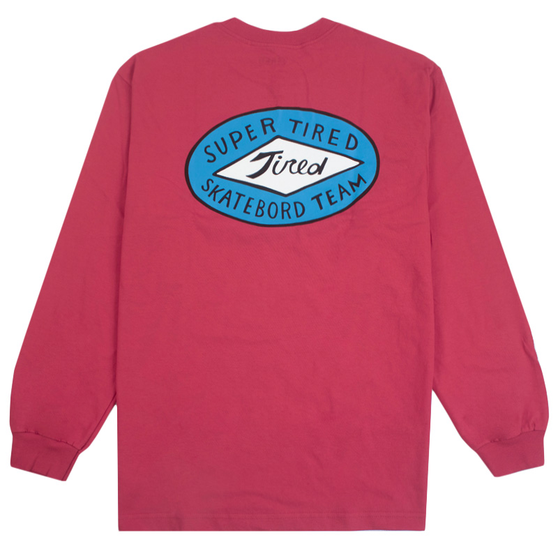 Tired Super Tired Longsleeve T-Shirt Red