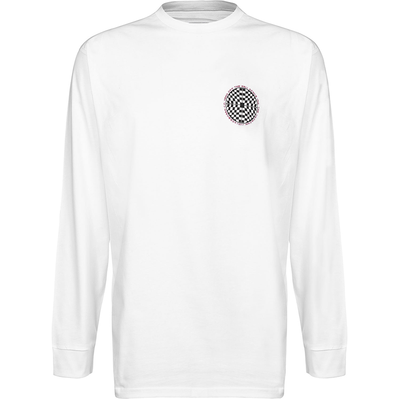 Vans Checkered Longsleeve T-shirt White
