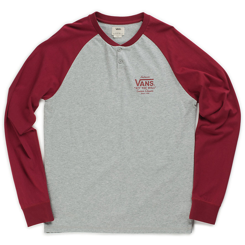 Vans Denton Raglan Longsleeve T-Shirt Cement Heather