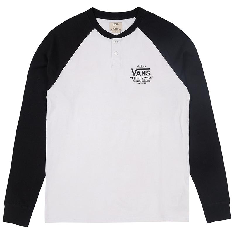 Vans Denton Raglan Longsleeve T-Shirt White Black