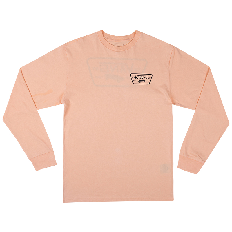 Vans Full Patch Back Longsleeve T-shirt Apricot Ice/Black