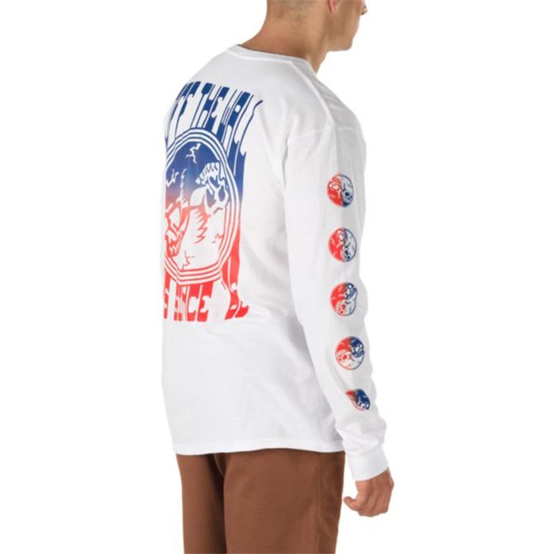 Vans Gradient Skull Longsleeve T-Shirt White