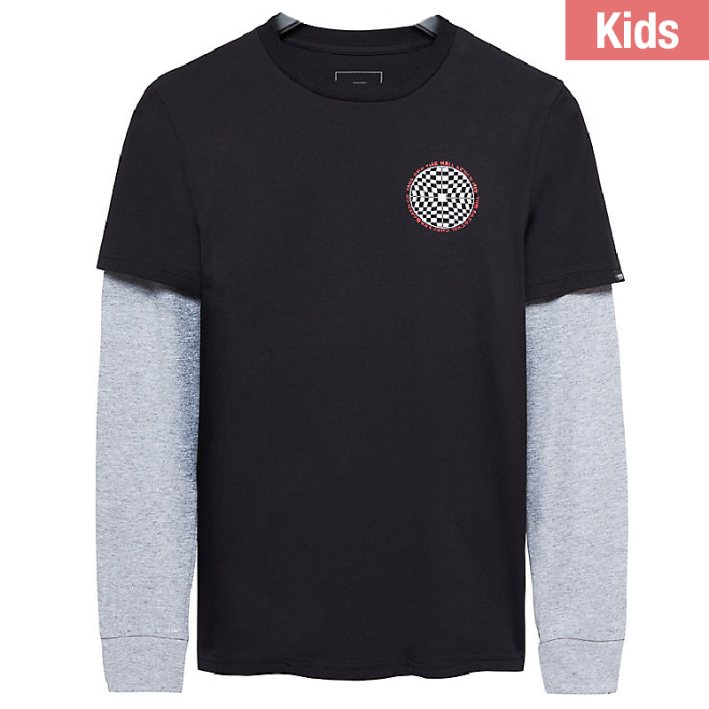 Vans Kids Checkered Longsleeve T-shirt Black/Athletic