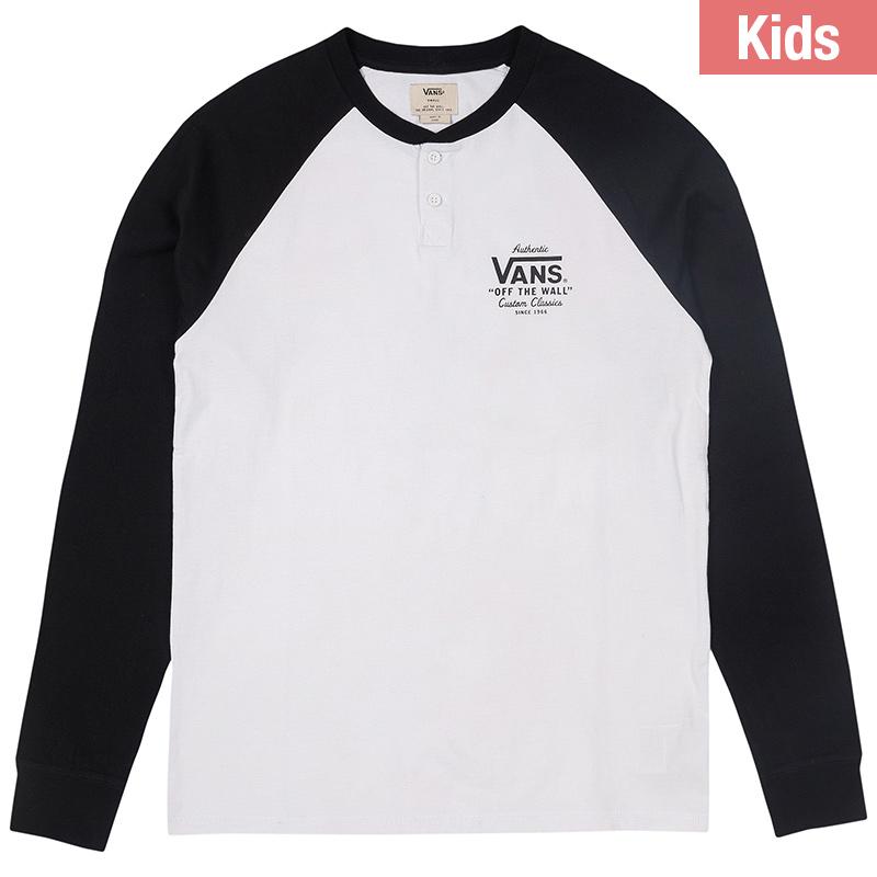 Vans Kids Denton Longsleeve T-Shirt White Black