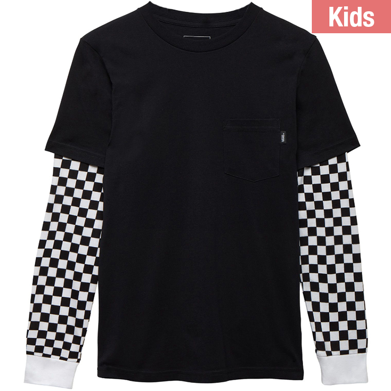 Vans Kids Two For Longsleeve T-Shirt Black/Checkerboard