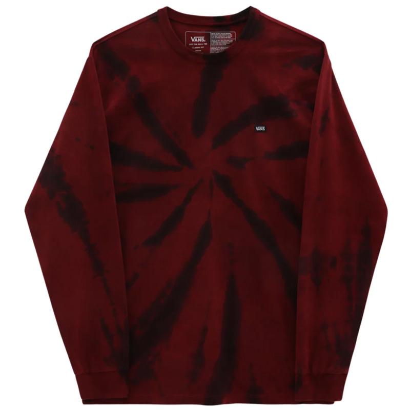 Vans Off The Wall Classic Spirl Tie Dye Longsleeve T-shirt Pomegranate/Black