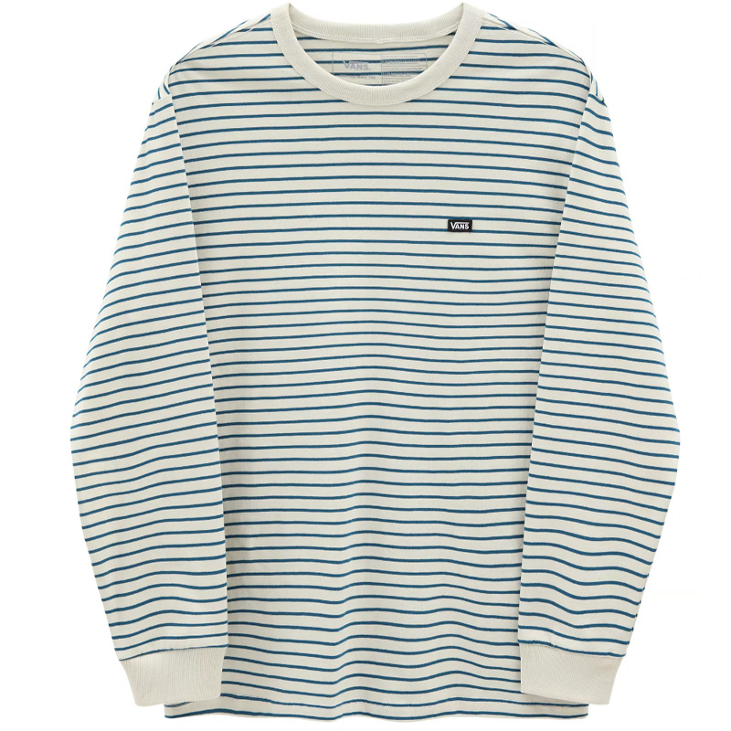 Vans Off The Wall Classic Stripe Longsleeve T-Shirt Seed Pearl/Moroccan Blue