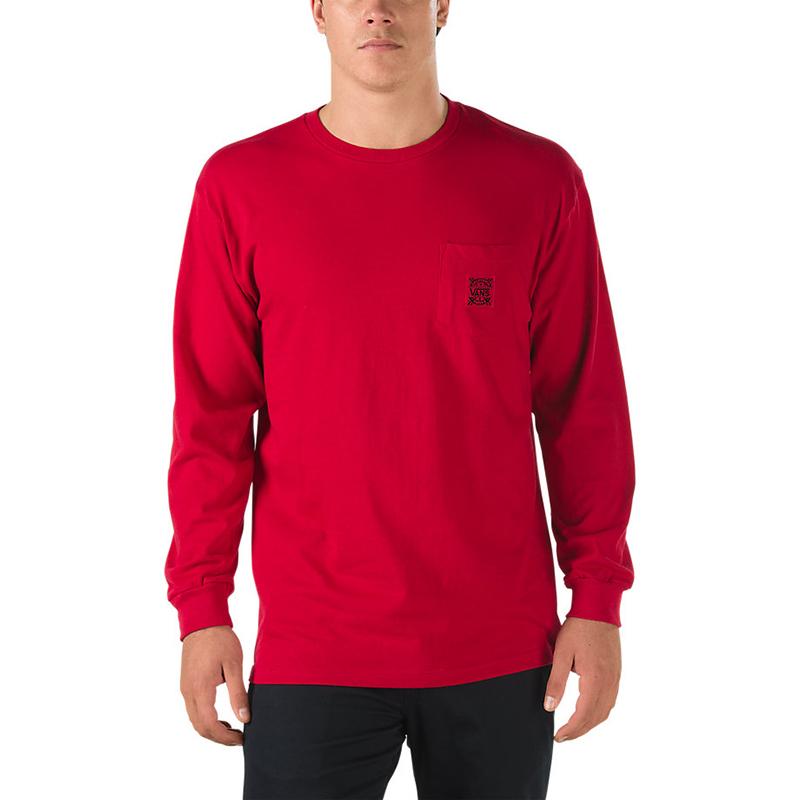 Vans Style 238 Longsleeve T-Shirt Cardinal