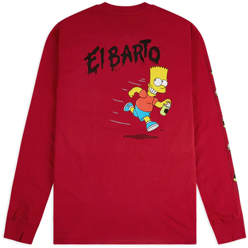 Vans X The Simpsons Longsleeve T-Shirt Red