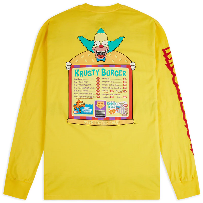 Vans X The Simpsons Longsleeve T-Shirt Yellow