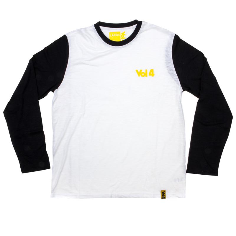 Vol 4 Logo Slub Longsleeve T-Shirt White/Black