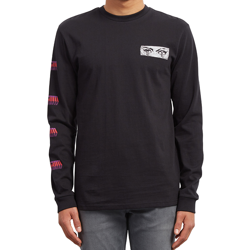 Volcom Black Hole HW Longsleeve T-Shirt Black