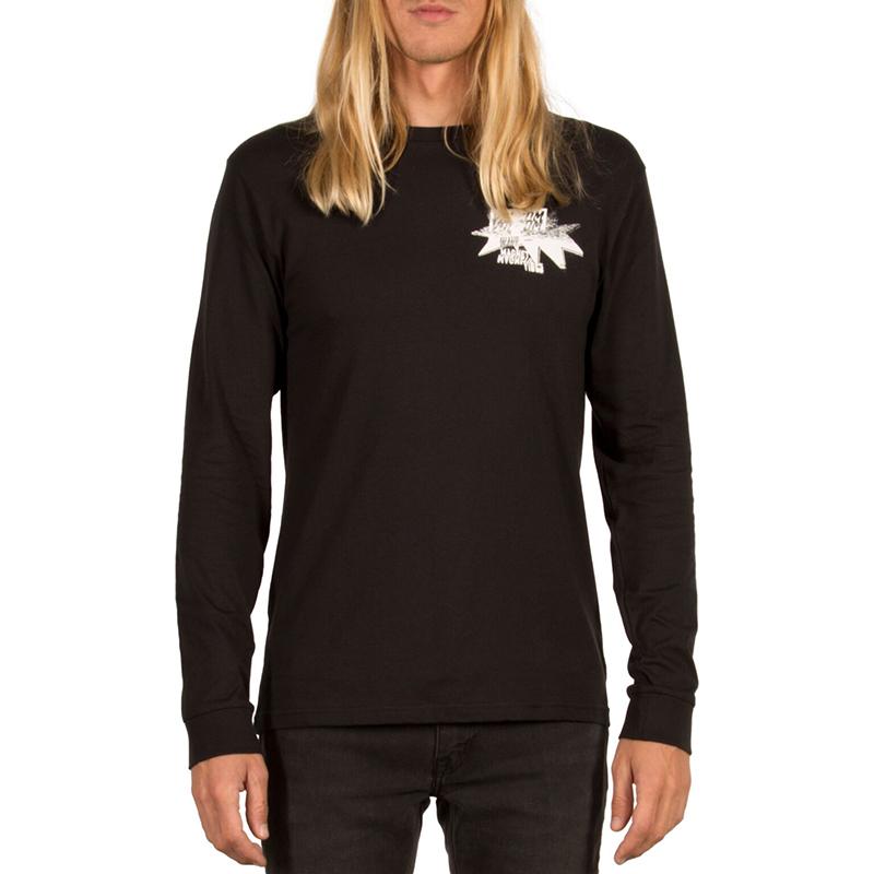 Volcom Mag Vibes Basic Longsleeve T-Shirt Black