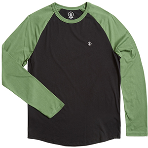 Volcom Pen Bsc Longsleeve T-Shirt Dark Kelly
