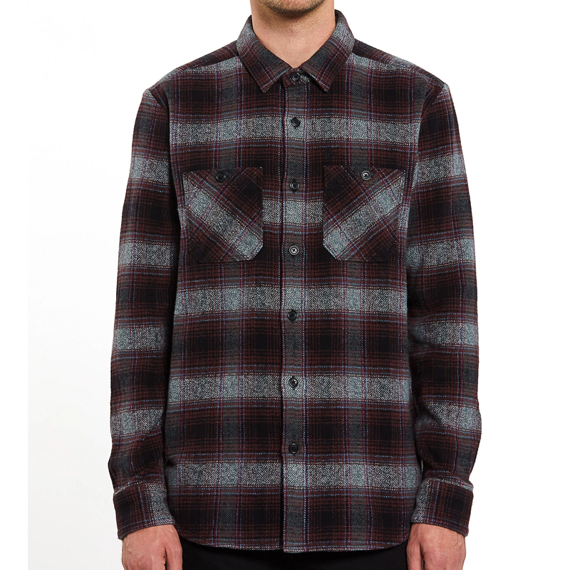 Volcom Quintin Flannel Longsleeve Shirt Black