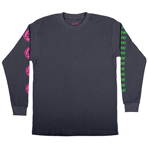 Welcome Creepers Heavyweight Thermal Longsleeve T-shirt Grey