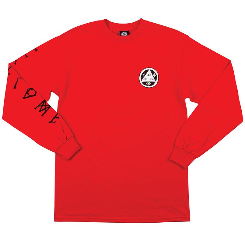 Welcome Tali-Scrawl Long Sleeve T-Shirt Red/Black/White