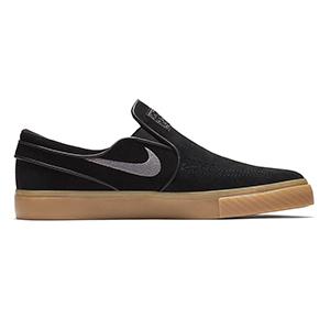 Nike SB Janoski Slip On Black/Gunsmoke/Gum Light Brown