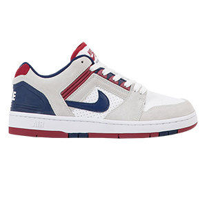 Nike SB Air Force II Low White/Blue Void/Red Crush/White