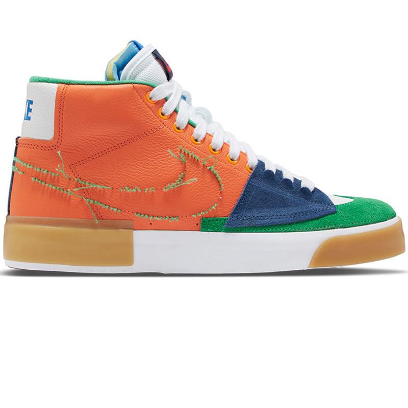 Nike SB Blazer Mid Edge L Safety Orange/Lucky Green