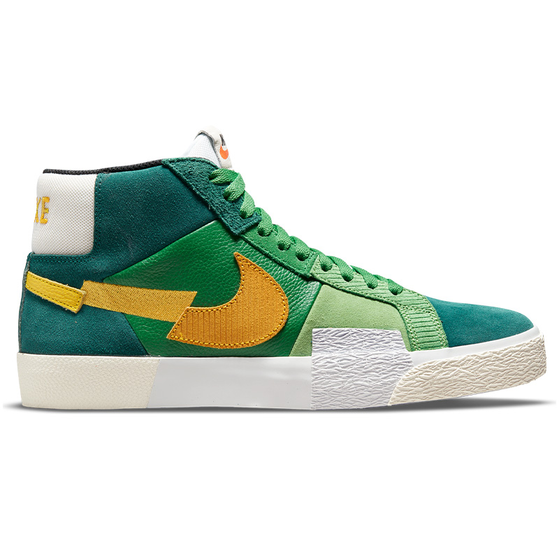 Nike SB Blazer Mid Premium Aloe Verde/University Gold/Rainforest