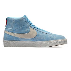 Nike SB Blazer Mid University Blue/Light Bone/Habanero Red