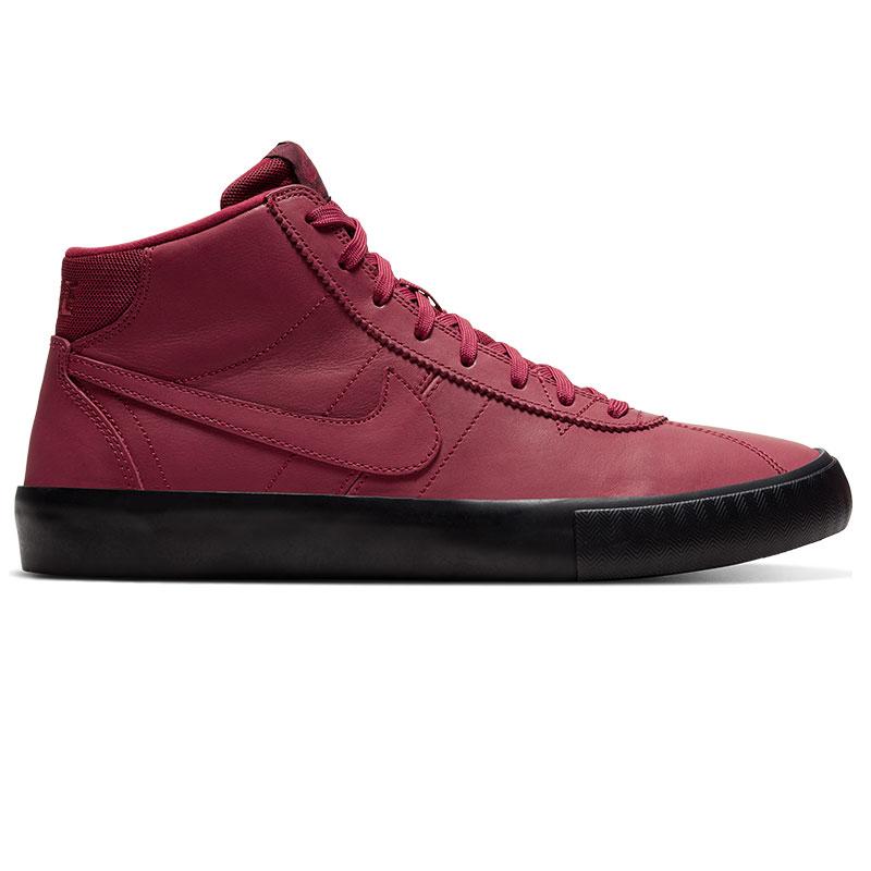 Nike SB Bruin High Iso Team RedNight MaroonBlack