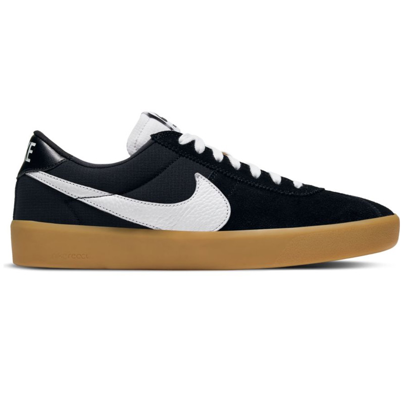 Nike SB Bruin React Black/White/Black/Gum Light Brown