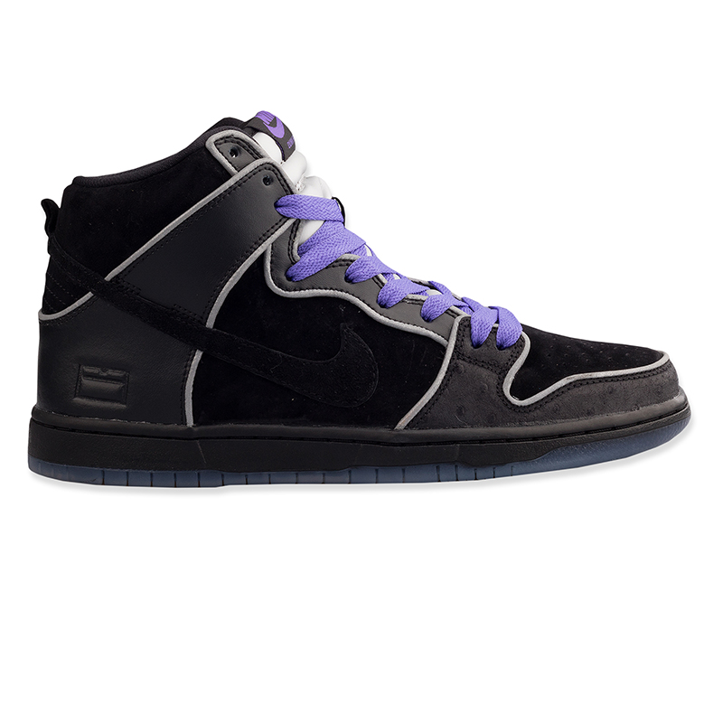 Nike SB Dunk High Elite Black/Black/White/Purple Haze