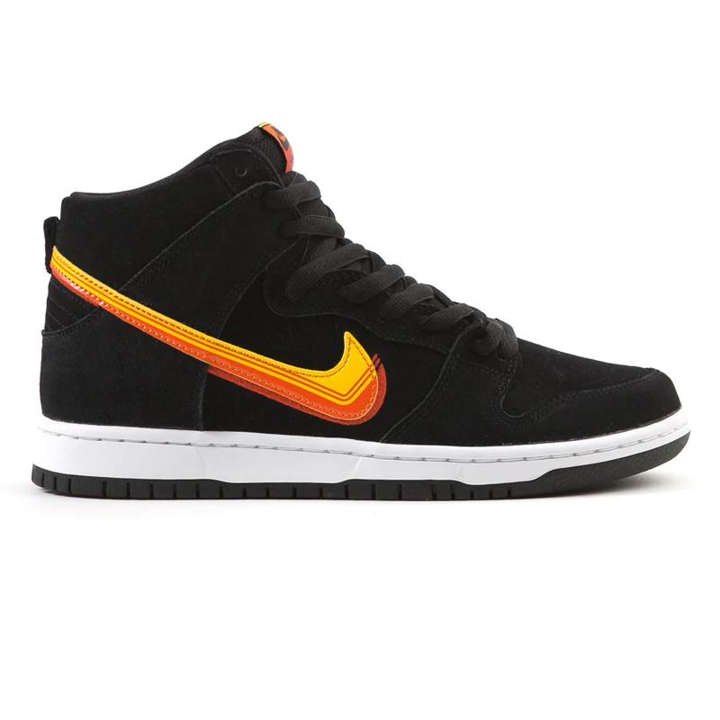 Nike SB Dunk High Pro BlackUniversity GoldTeam Orange