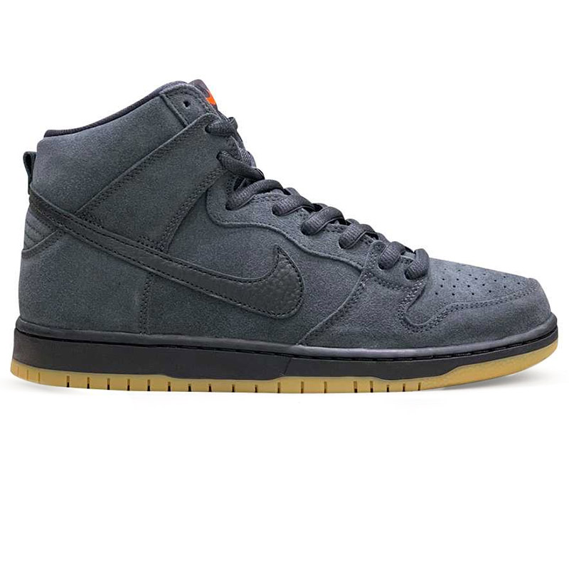 Nike SB Dunk High Pro Iso Dark Smoke Grey/Black/Dark Smoke Grey/White
