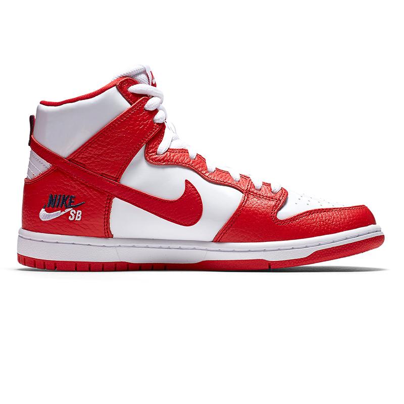 Nike SB Dunk High Pro University Red/University Red/White