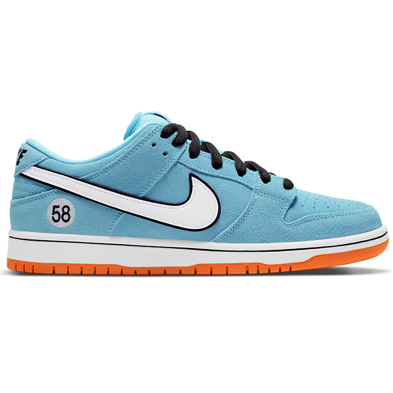 Nike SB Dunk Low Pro Blue Chill/White/Safety Orange/Black