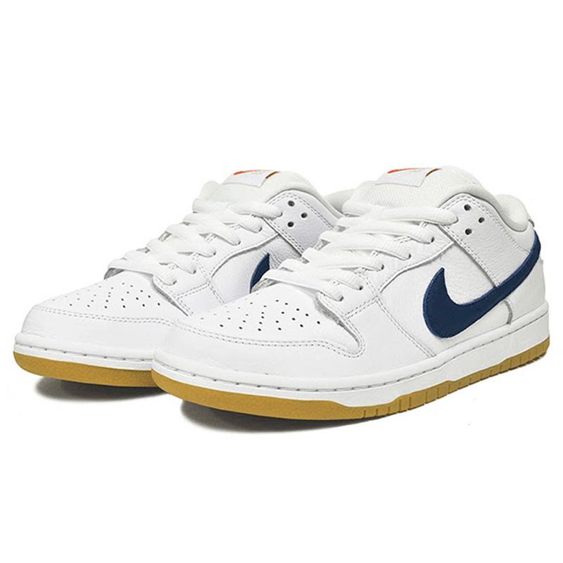 Nike SB Dunk Low Pro Iso White/Navy/White/Safety Orange