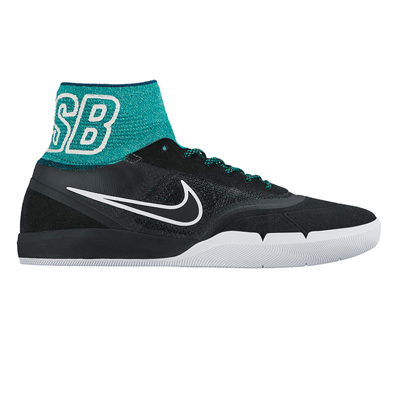 Nike SB Hyperfeel Koston 3 Black/Black Rio/Teal White