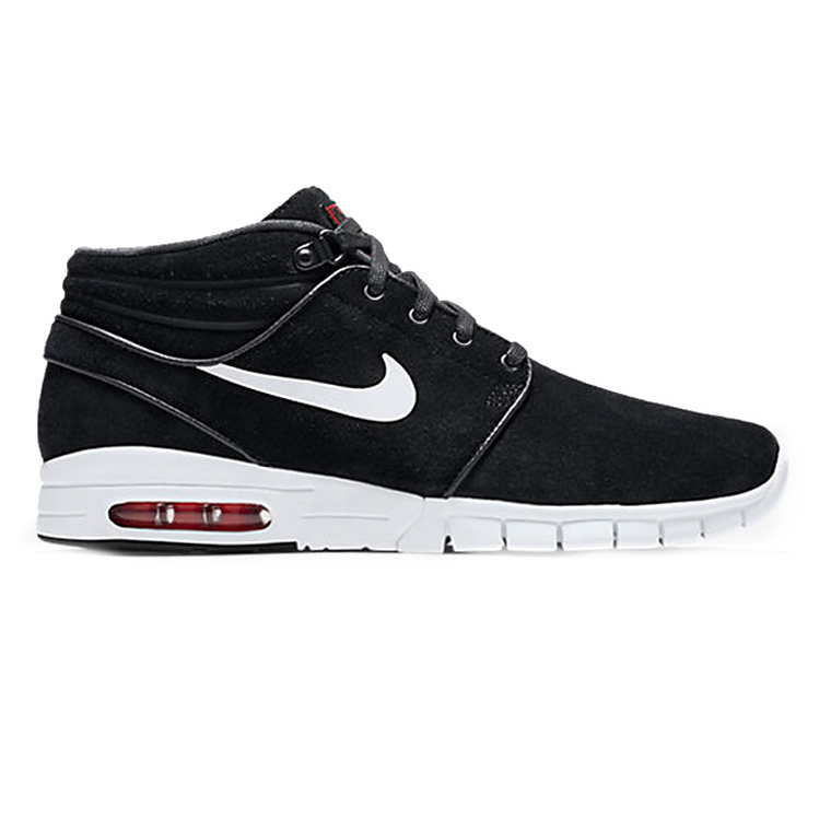 Nike SB Janoski Max Mid Leather Black/White/University Red