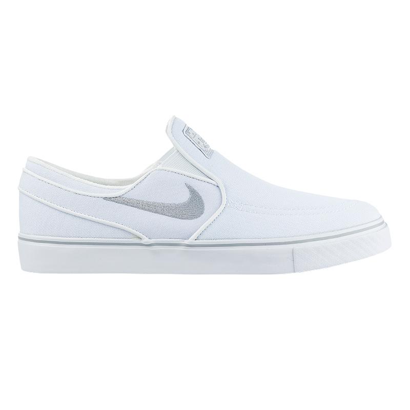 Nike SB Janoski Slip On Canvas White/Wolf Grey/White