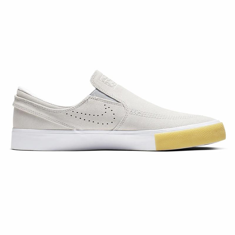 Nike SB Janoski Slip On RM SE White/White/Vast Grey/Gum Yellow