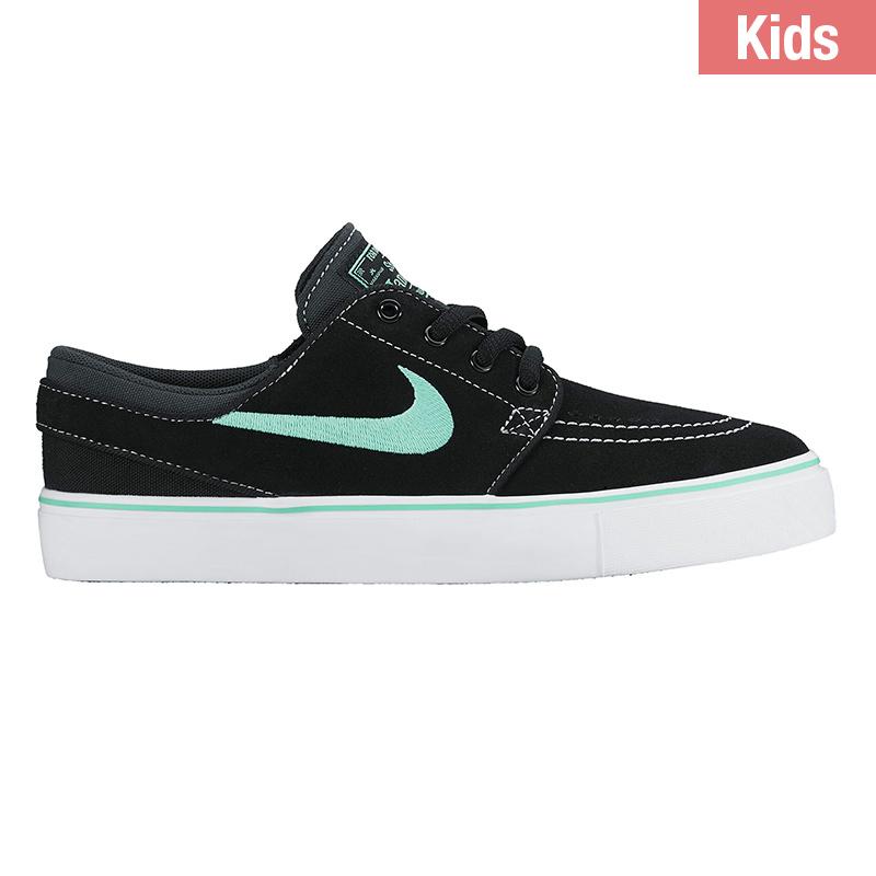 Nike SB Kids Janoski Black/Green Glow Anthracite White