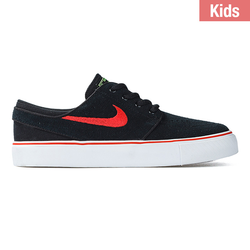 Nike SB Kids Janoski Black/Lt Crimson/Green Pulse