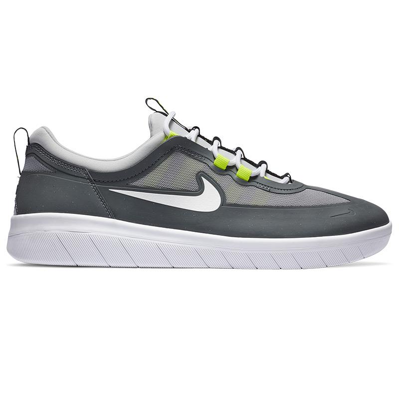 Nike SB Nyjah Free 2 Smoke Grey/White/Lt Smoke Grey