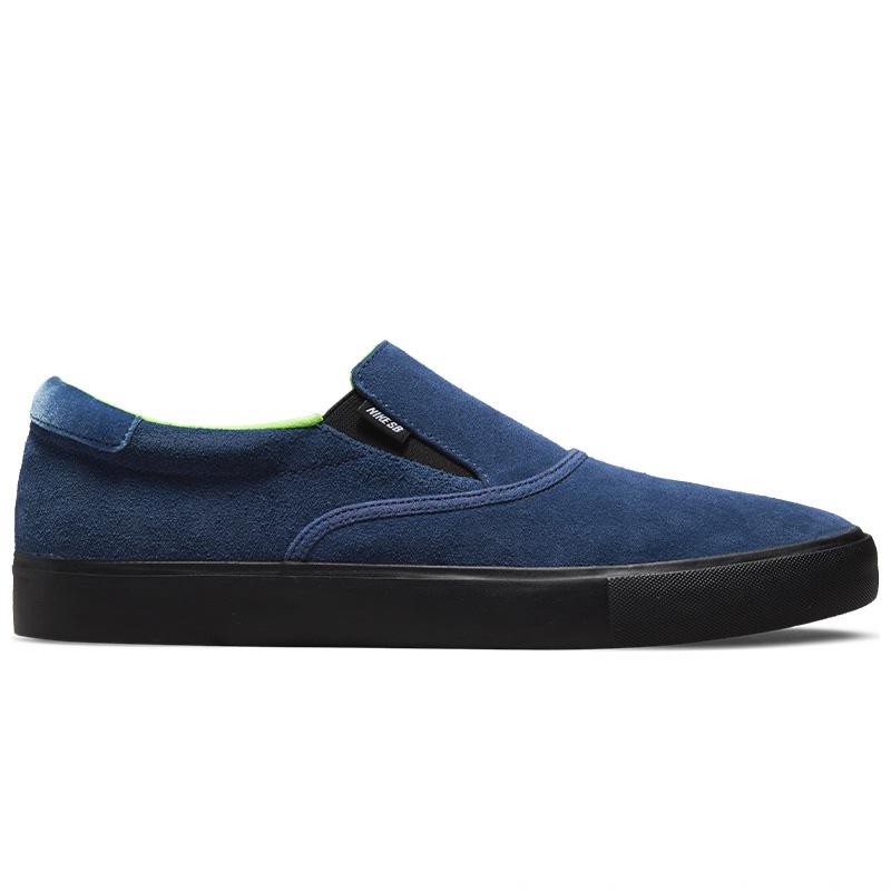 Nike SB Verona Slip x Leo Baker Blue Void/Black/Blue Void/Electric Green
